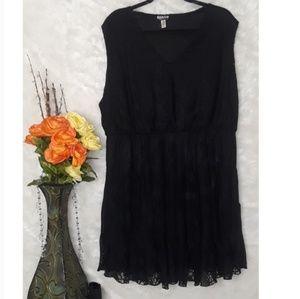 3X Haani Black Lace Dress Petite